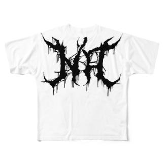"""ブルータル デスメタル ロゴ Tee """"NO"""" All-Over Print T-Shirt"""