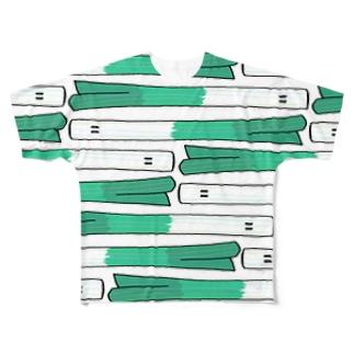 ネギフル 横 Full graphic T-shirts