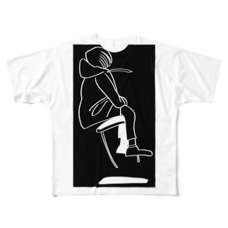 TZUCASA - ふわり Full graphic T-shirts