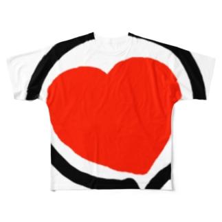 ハートゥー Full graphic T-shirts