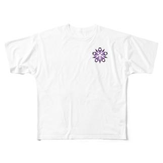 Lore(PURPLE) Full graphic T-shirts