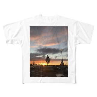 スコットランドの夕日 Full graphic T-shirts