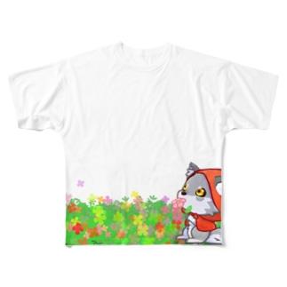 赤ずきんおおかみ Full graphic T-shirts