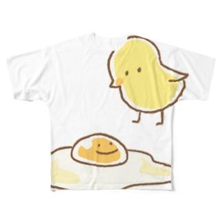 ひよことたまご Full graphic T-shirts