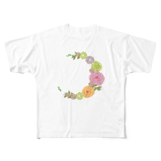 Crescent Bouquet Full graphic T-shirts