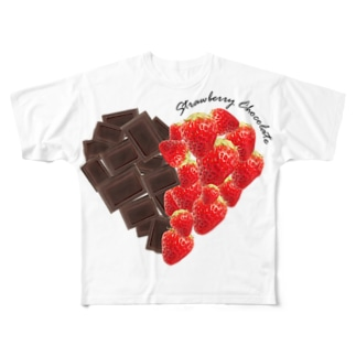 strawberry chocolate Full graphic T-shirts