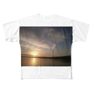夕焼け 海 Full graphic T-shirts