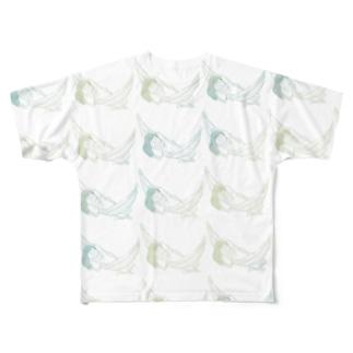 もっとシエスタ(あおきいろ) Full graphic T-shirts