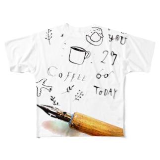 カリグラフィー Full graphic T-shirts