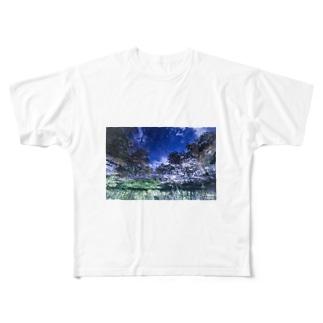 水面に注ぐ光 Full graphic T-shirts