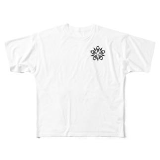 Lore(BLACK) Full graphic T-shirts
