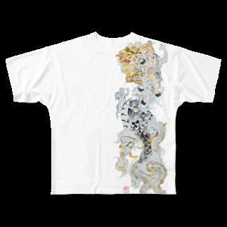 Katsurako かつらこ (鯛茶漬け)の龍 Full graphic T-shirts
