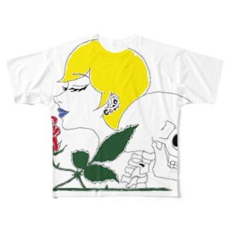 綺麗な薔薇には棘がある Full graphic T-shirts