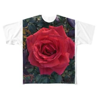 ローズガーデン Full graphic T-shirts