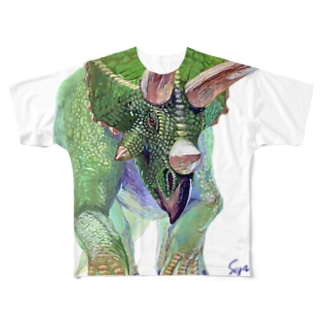 Triceratops Full graphic T-shirts