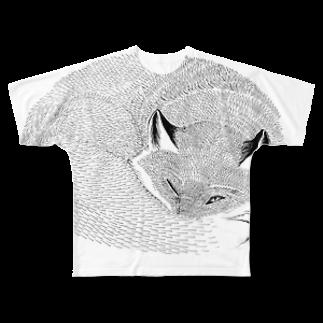 segasworksのねたふりきつね Full graphic T-shirts