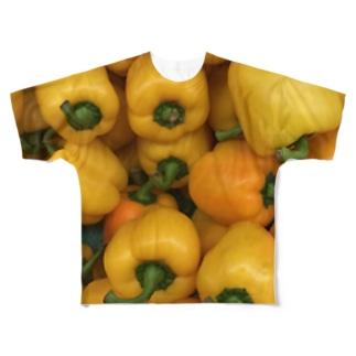 黄色パプリカ Full graphic T-shirts