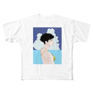 夏の女は獣 Full graphic T-shirts