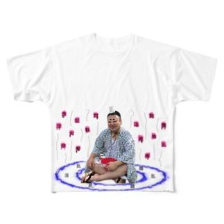 ギチギチマガジン編集部 / ギチケン👺の陰陽師 Full Graphic T-Shirt
