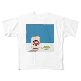 ベトナムビールとライム Full graphic T-shirts