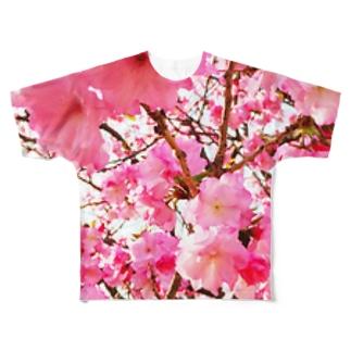 桜を待つ Full graphic T-shirts