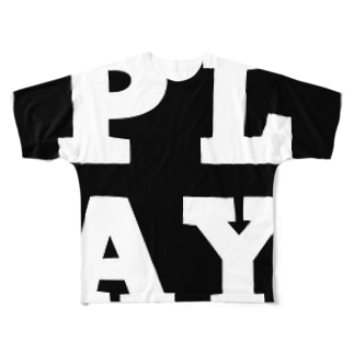 PLAY FULL B Full graphic T-shirts