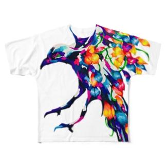 花を纏う Full graphic T-shirts