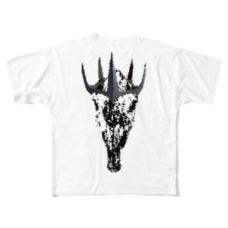 niika-pukoto T-shirt【horse skull】 Full graphic T-shirts
