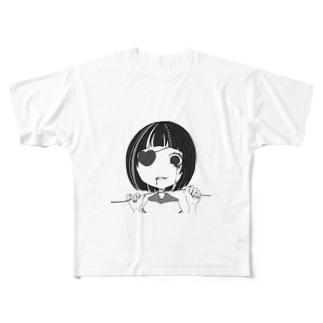 首絞めぼぶちゃん Full graphic T-shirts