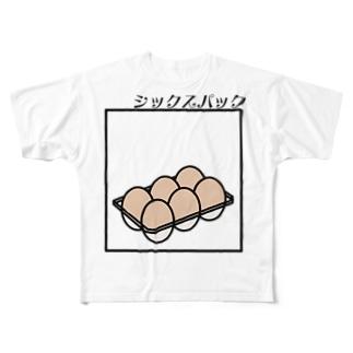 シックスパック Full graphic T-shirts