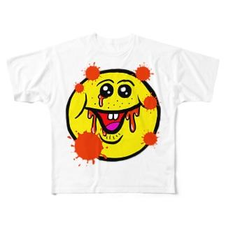 笑い太郎(血みどろ) Full graphic T-shirts