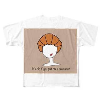 クロワッサン被ったっていいじゃないか。 Full graphic T-shirts