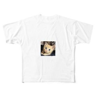 可愛い猫ちゃん💓 Full graphic T-shirts