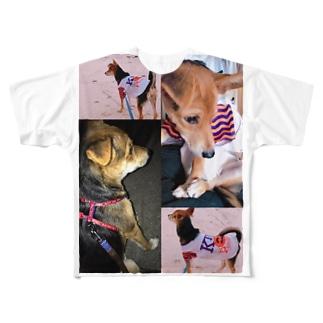 さーちゃん💓の飼い犬のわんちゃん💓 Full graphic T-shirts