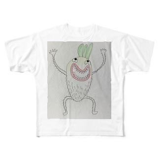 狂暴な大根 Full graphic T-shirts