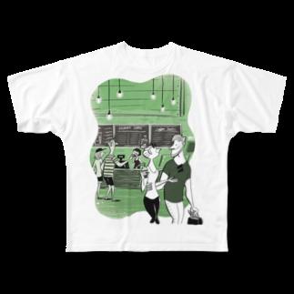 Seto HiroakiのGREEN Full graphic T-shirts