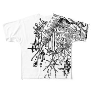 森の輝き Full graphic T-shirts