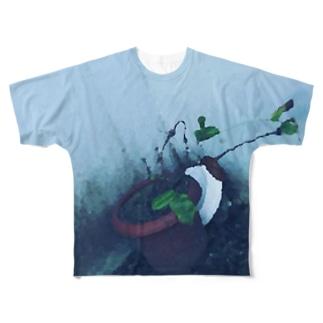 枯れた植木の Full graphic T-shirts