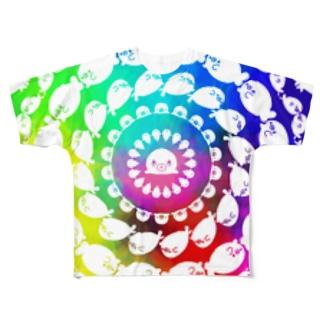 よ〜く見るとアザラシ Full graphic T-shirts