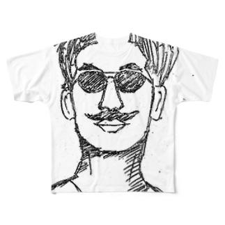 ダサ男の日常 Full graphic T-shirts