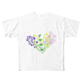 七草でハート Full graphic T-shirts