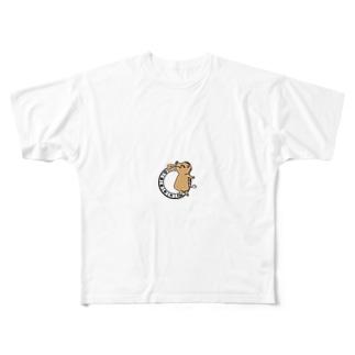 干支-亥-いのしし Full graphic T-shirts