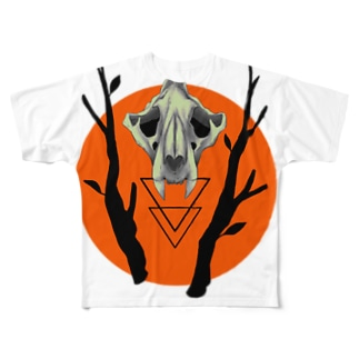 骨と温かい色 Full graphic T-shirts