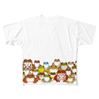 日本のカエル Full graphic T-shirts