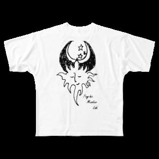 邂【サイマラショップ】逅 SUZURI店のPsychic Murder Lab.シンボルマーク Full graphic T-shirts