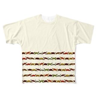 日本の亀ボーダー Full graphic T-shirts