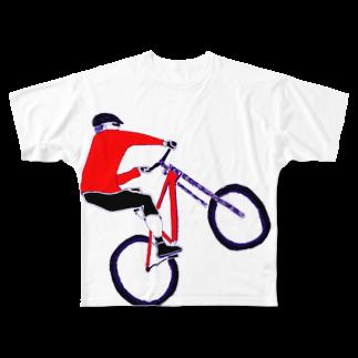 NIKORASU GOのMTBデザイン「RIDE」 Full graphic T-shirts