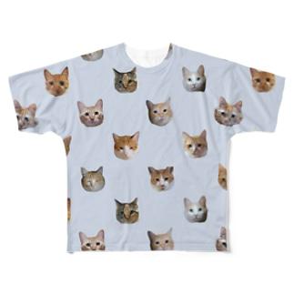 ポルカドット?ペールブルー Full graphic T-shirts