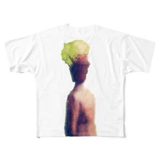 植木鉢君 Full graphic T-shirts