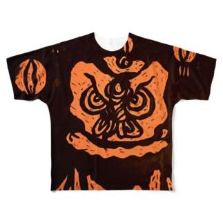 東風の鬼梟 Full graphic T-shirts